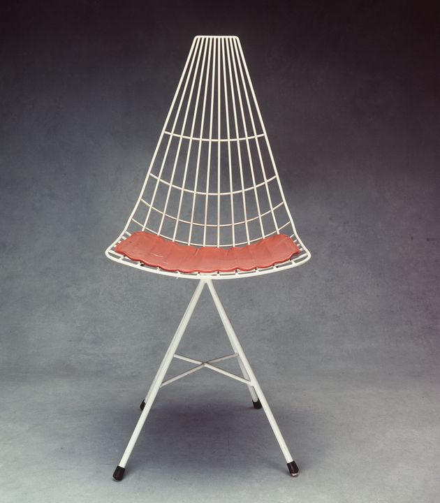 91/1326 Chair, 'Michael Hirst' chair, plastic-coated steel, designed by Clement Meadmore (1959), made by Michael Hirst Pty Ltd, Melbourne, 1959-1965. Click to enlarge.