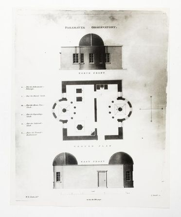 P3549-6 Photograph, black and white print, part of collection of images from the Sydney Observatory, plans of Parramatta Observatory, paper, photographer unknown, taken at unknown location, 1870-1979, used at the Sydney Observatory, New South Wales, Australia, 1870-1979