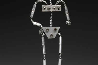 2013/41/1 Claymation human puppet armature, aluminium, made by Stop Motion Pro, Melbourne, Victoria, Australia, 2012