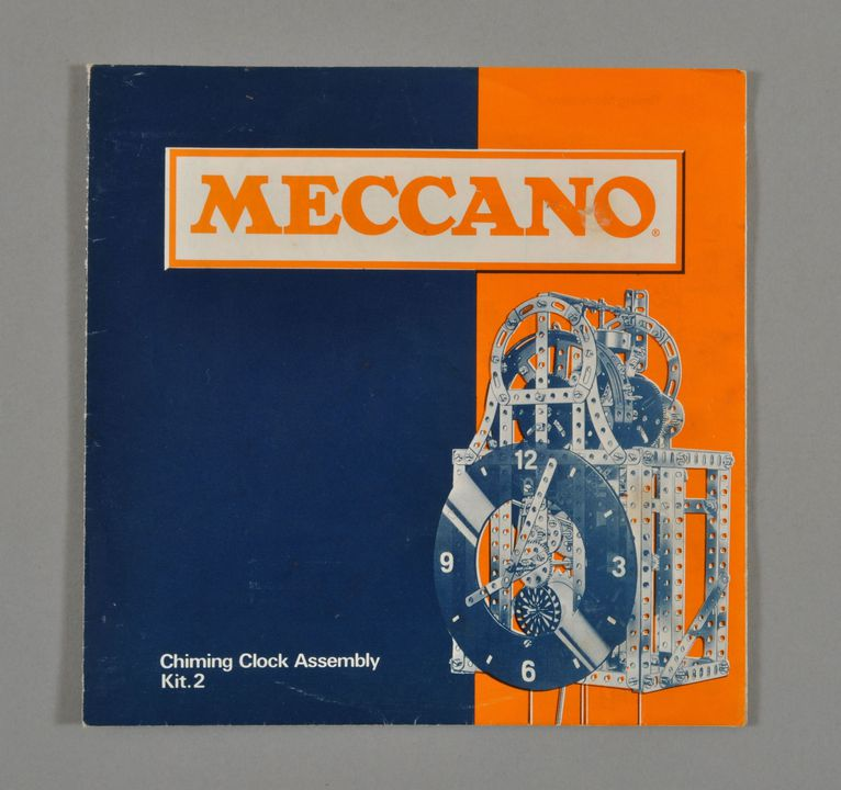 2013/120/200 Leaflet, 'Meccano 2: Chiming Clock Assembly Kit 2', paper, made by Meccano Ltd, Liverpool, England, 1971. Click to enlarge.