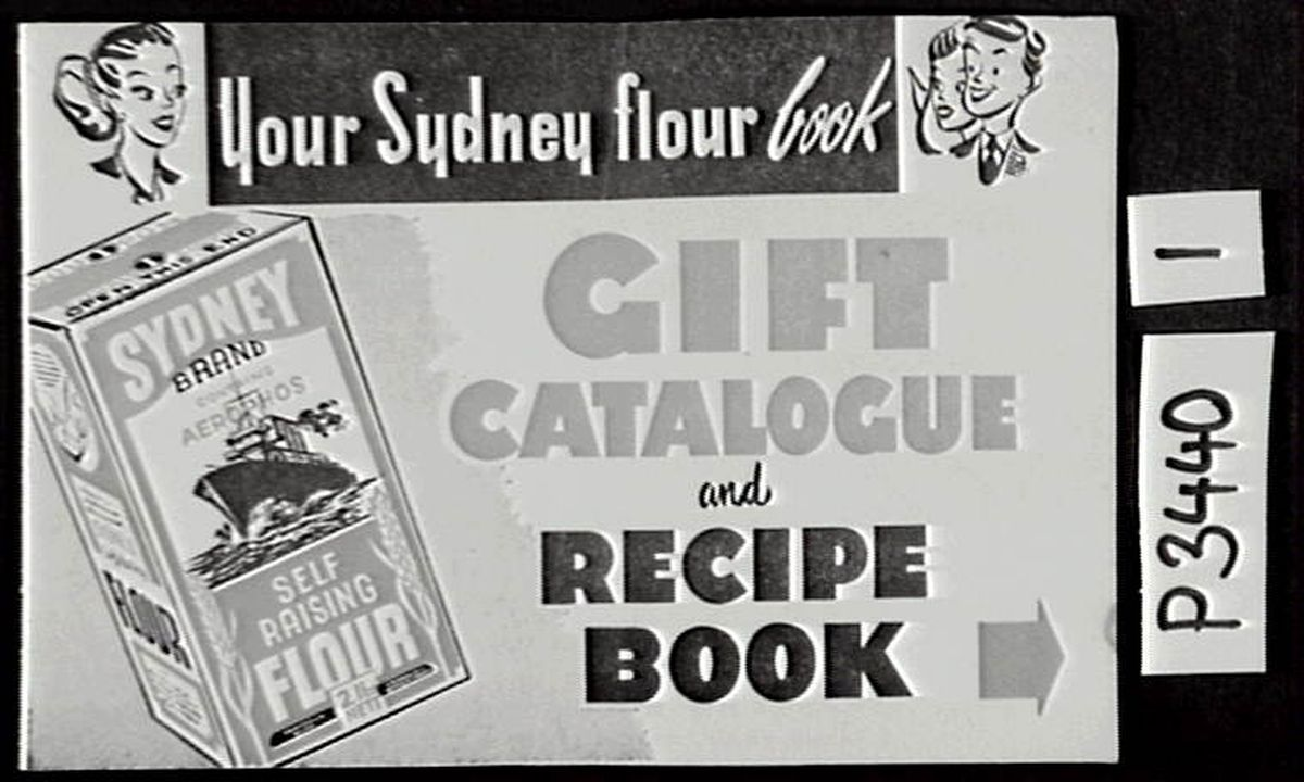 P3440 Booklet, Sydney Flour Gift Catalogue & Songbook, Sydney Flour Pty Ltd, (music for song by Jack Lumsdaine), Australia, 1950-1960 (OF).. Click to enlarge.