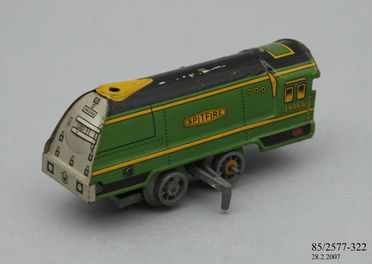 85/2577-322 Toy locomotive, 'Spitfire', tin plate, made by Mettoy, England, 1934-1954