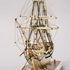 Image 7 of 46, H5217 Ship model in case, 72 gun French Frigate warship, possibly representing the 74 gun 'Le Heros', bone / wood / perspex, made by a Napoleonic prisoner-of-war, c. 1800. Click to enlarge
