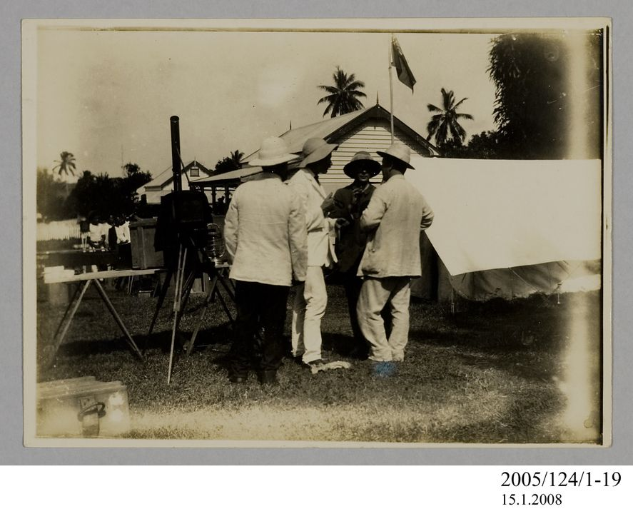 2005/124/1-19 Photograph, part of collection owned by James Short, black and white, Tahiti eclipse expedition, paper, photographer unknown, Tahiti, 1908. Click to enlarge.