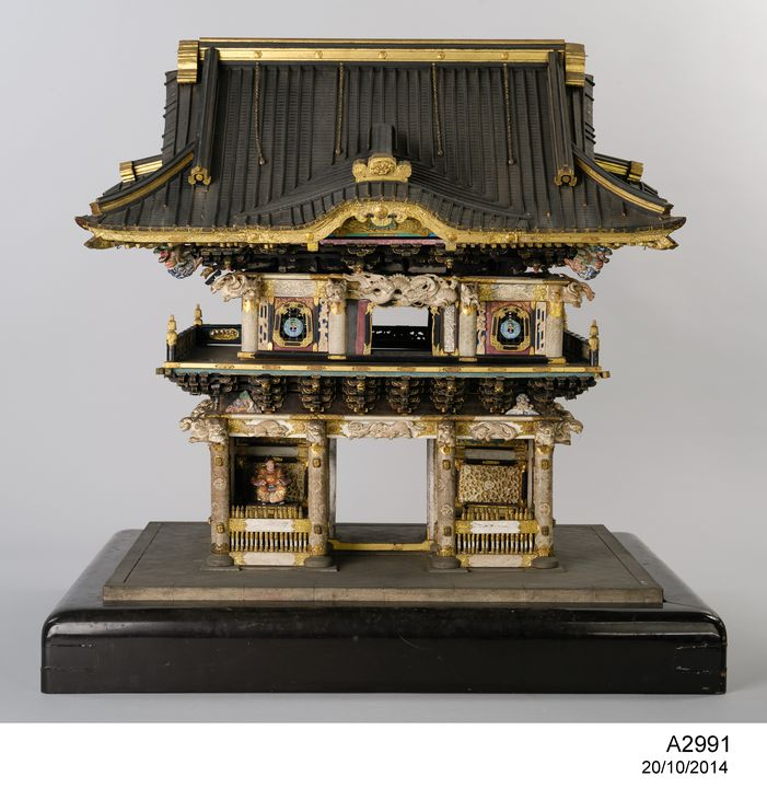 A2991 Model of Yomeimon Gate at Toshougu Shrine, Nikko, Japan. No 67 in catalogue of Philp Charley sale. Click to enlarge.
