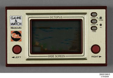2003/160/1 Electronic toy, Nintendo 'Game & Watch' Octopus, plastic /metal /electronics components, designed by Gunpei Yokoi, manufactured by Nintendo, Japan, 1981