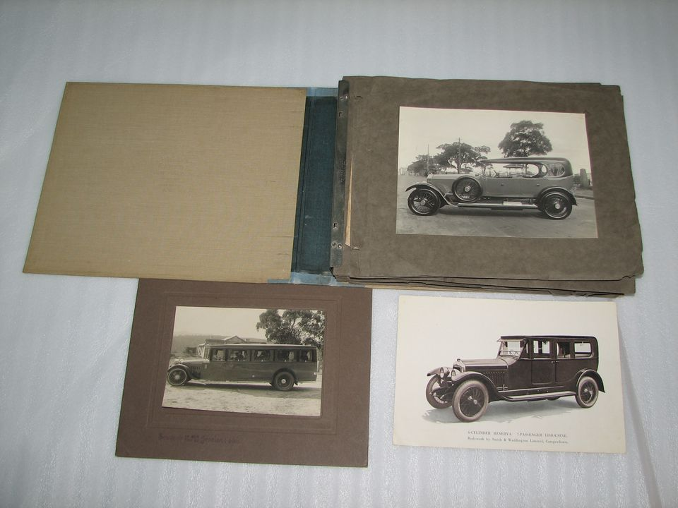 Photograph album and ephemera from motor body builders Smith