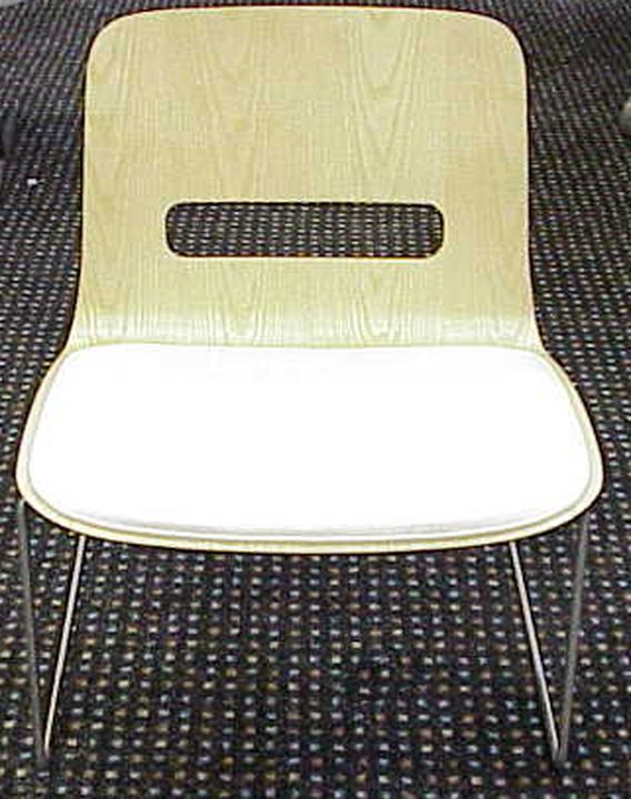 2006/109/1 Lounge chair, 'Miss Molly', plywood / stainless steel / plastic, designed and made by Schamburg + Alvisse, Sydney, New South Wales, Australia, 2004. Click to enlarge.