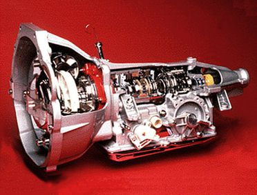92/413 Gearbox, transmission for motor car, automatic, BTR model M85, four-speed, sectioned, made by apprentices at BTR Engineering (Australia) Ltd, Albury, New South Wales, Australia, 1989