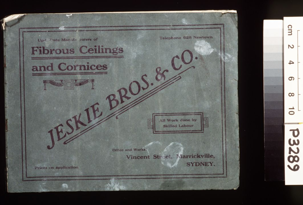 Catalogue, 'Fibrous Ceilings and Cornices', paper