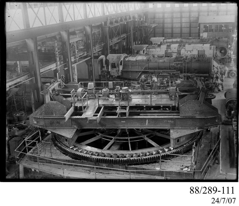Photograph of Clyde workshop with C38 locomotives - MAAS