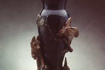 2830 Vase, earthenware, modelled by A Cund, Doulton & Co, Lambeth, England, 1882