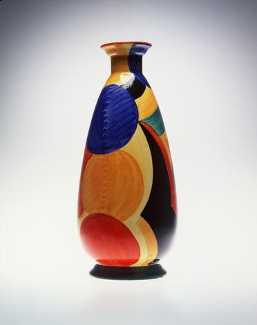 2005/66/3 Vase, ceramic with hand-painted decoration, designed by Susie Cooper, made by A E Gray & Co (Gray's Pottery), Stoke-on-Trent, Staffordshire, England, 1925-1929