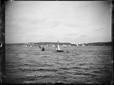 85/1284-39 Glass plate negative, full plate, 'Yachting off Watsons Bay', Kerry and Co, Sydney, Australia, c. 1884-1917