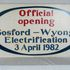 Image 1 of 1, 86/264 Railway Sign, 'Official Opening Gosford/Wyong Electrification', NSW, 1982. Click to enlarge