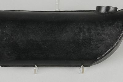 B2231-2 Exhaust pipe, part of an exhaust manifold from 'Southern Cross' aircraft, metal, aircaft made by Fokker, 1927, used by Charles Kingsford Smith and Charles Ulm, 1928-1935
