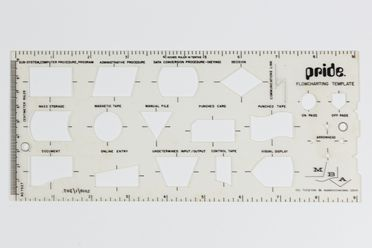 2010/1/307 PRIDE flowcharting template, plastic, made by M Bryce and Associates Inc, Cincinnati, Ohio, United States of America, 1970-1979