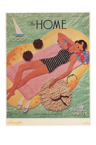 92/191-19/54 Proof, colour print, collage design, paper, designed by Dahl Collings for 'The Home' magazine, vol 16, no 11, Sydney, New South Wales, Australia, published 1 November 1935