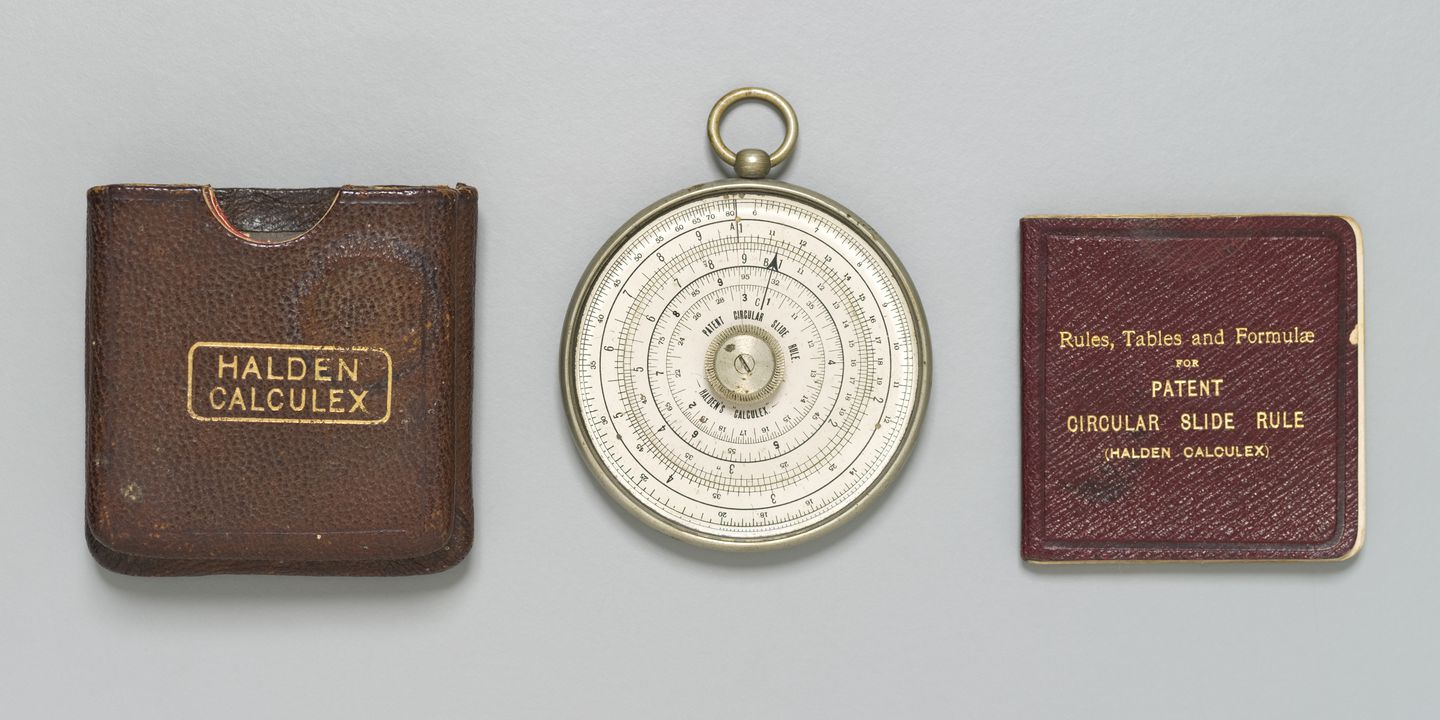halden calculex circular slide rule maas collection