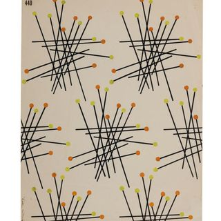 92/191-16/3 Textile design, gouache on paper, designed by Dahl Collings, New York, New York, United States of America / Sydney, New South Wales, Australia, 1950-1953