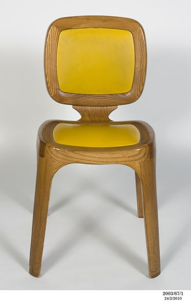 2003/67/1 Dining chair, 'Coast', wood / plastic, designed and made by Marc Newson, Paris, France / London, England, 1995