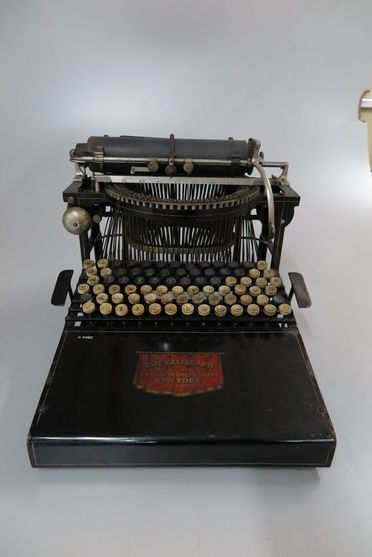 H4680 Manual typewriter, 'No. 4 Caligraph', made by American Writing Machine Co, c.1894, used by James Cameron Taylor, legal clerk for Norton Smith & Co, Sydney, New South Wales, Australia, c.1895-1945
