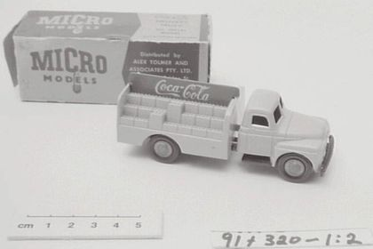 8c8aa0c51b Toy and packaging of an International Coca-Cola delivery truck
