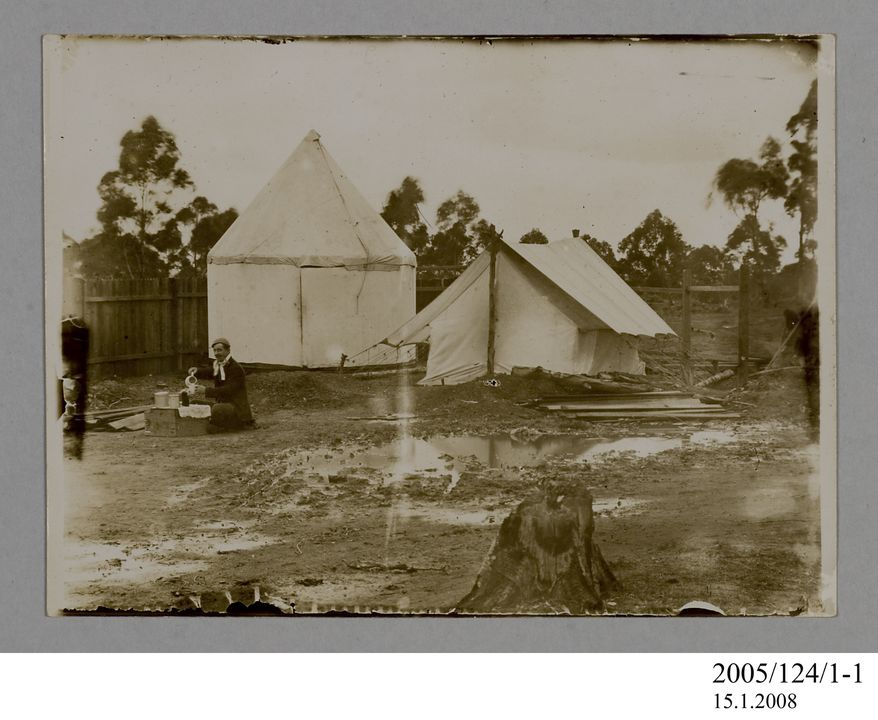 2005/124/1-1 Photograph, part of collection owned by James Short, sepia toned, grounds of Pennant Hills Observatory, paper, photographer unknown, Sydney, New South Wales, Australia, 1890. Click to enlarge.