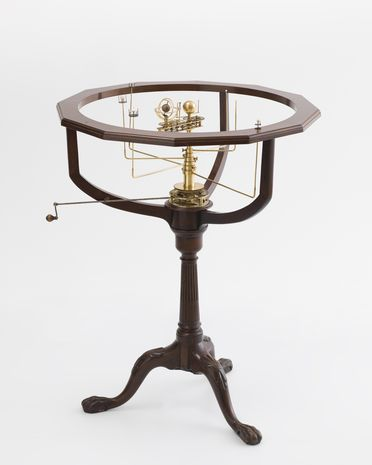 86/60 Orrery and stand, brass / timber / ivory, France, 1851–1877