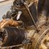 Image 5 of 5, B2534 Aircraft engine, Le Rhone, Type R, WWI, rotary, air-cooled, nine cylinder, 170 hp or 180 hp, RAF SN 14-0-A, Type R, A13614, steel / copper, made by Societe Des Moteurs Le Rhone, France, 1918.. Click to enlarge