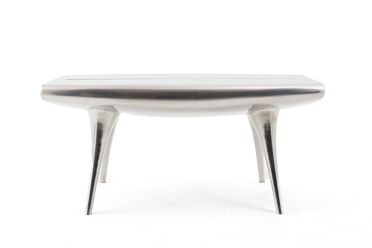 93/340/1 Table, 'Event Horizon', aluminium / enamel paint, designed by Marc Newson, Australia / Japan / France, 1991-1992, manufactured by CZMIL for POD Edition, France, 1992