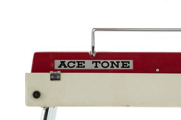 2021/70/10 Keyboard Instrument with case, 'Ace Tone Top 5', plastic / metal / timber / electronic components, by Ace Electronics Industry Inc, Japan, 1967