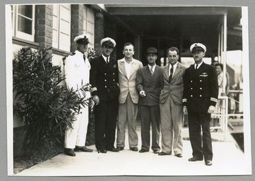 85/112-45 Photograph, black and white, catalina crew members, paper, photographer unknown, place unknown, 1941
