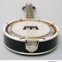 Image 5 of 18, 2005/61/1 Banjo mandolin with case, timber / metal / leather / cardboard, banjo mandolin made by Pacific, Melbourne, Victoria, Australia, 1945-1965. Click to enlarge