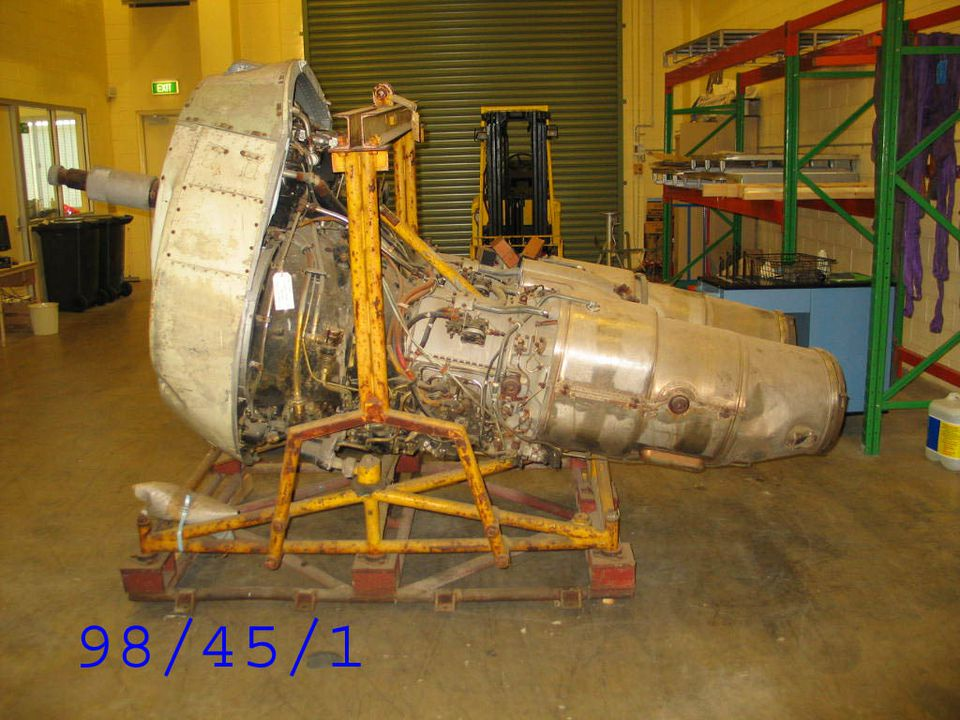 98/45/1 Aircraft engine, Double Mamba Mk 100, propeller axial gas turbine, Armstrong Siddeley Motors Limited, England, 1955-1958. Click to enlarge.