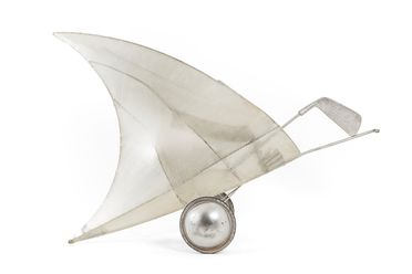 2001/84/12 Golf cart and oversized golf club, 'Shark Fin', performance prop, metal / plastic / polystyrene / rubber, designed by Ross Wallace, made by Ceremonies Workshop, used in 'Parade of Icons' Greg Norman float, Sydney 2000 Olympic Games Closing Ceremony, Sydney, New South Wales, Australia, 200