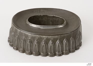 K1119 Jelly mould, blanc- mange, tinplate, maker unknown, England or America, 1890-1930