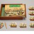 Image 1 of 7, A11050 Board game, 'Race to the gold diggings of Australia', linen / wood / paper, maker unknown, England, 1850-1869.. Click to enlarge