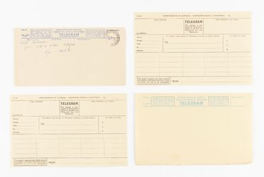 98/2/78-5 Telegram forms (16), part of collection, 'Telegram Forms', blank, paper / ink, Australian Post Office / Postmaster Generals Department, Australia, 1947-1983
