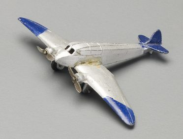 2008/158/1-12 Toy aircraft (1 of 6), part of collection, 'General Monospar (60e)', metal, Meccano Ltd, Liverpool, England, 1934-1940, used Wyatt family, Hobart, Tasmania / Roseville, New South Wales, Australia, 1935-1942