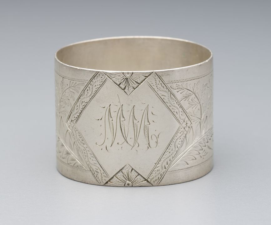 2002/81/2 Napkin ring, sterling silver, J. M. Wendt, Adelaide, South Australia, Australia, 1880 - 1897. Click to enlarge.