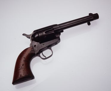 H6751 Revolver, 45 calibre, 6 chamber, solid frame, single action, No 44986, Colt model, Army, United States of America, 1873
