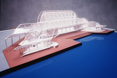 99/36/4 Architectural model, Australian National Maritime Museum, Sydney, plastic / wood / card, Philip Cox / Cox Architects, New South Wales, Australia, [1985-1990]