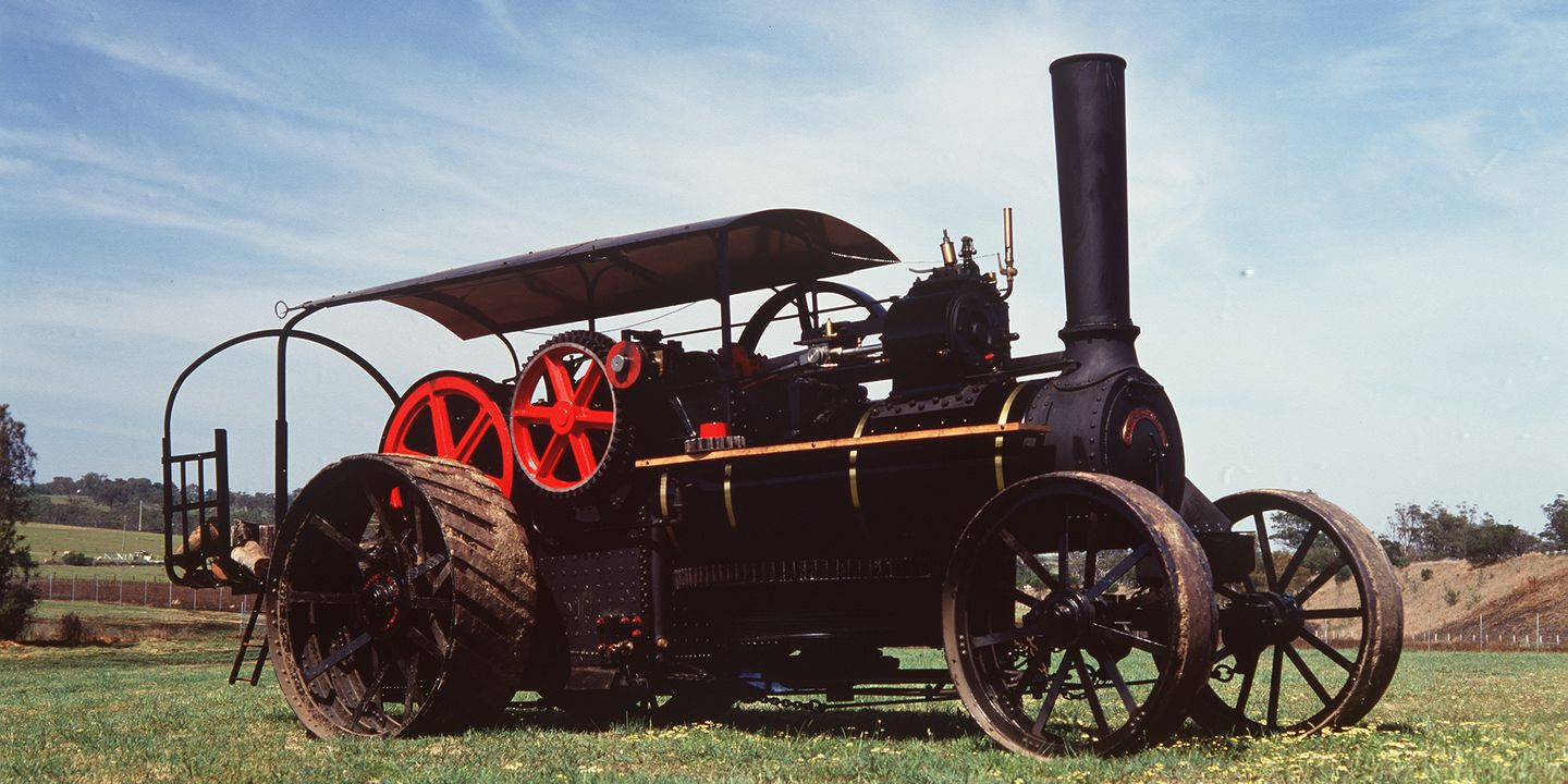 B2265 Fowler steam ploughing engine, No. 5933, 18 nhp, full size, metal / timber, made by John Fowler & Co, Steam Plough Works, Leeds, England, 1889, used by Sir Samuel McCaughey at Yanco, NSW, Australia until 1912 and NSW Water Conservation and Irrigation Commission, at Leeton, NSW, Australia, unti. Click to enlarge.