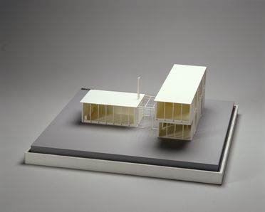 92/1993 House model, 'The House of Tomorrow', acrylic, house designed by architect Robin Boyd in 1949, model made by R&F Porter Modelmakers Pty Ltd, Sydney, New South Wales, Australia, 1992