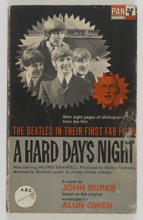 2012/141/6 Book, 'A Hard Day's Night' (The Beatles), paper / card, written by John Burke, published by Pan Books Ltd, London, England, printed by The Griffin Press, Australia, 1964. Click to enlarge.
