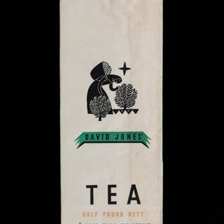 90/58-1/17/1/10 Food packaging, tea, paper, designed by Douglas Annand for David Jones, Sydney, New South Wales, Australia, c. 1936