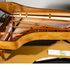 Image 20 of 23, 99/88/1 Grand piano with cover, Huon pine / King William pine / casuarina / metal, Stuart & Sons, Newcastle, New South Wales, Australia, 1998-1999. Click to enlarge
