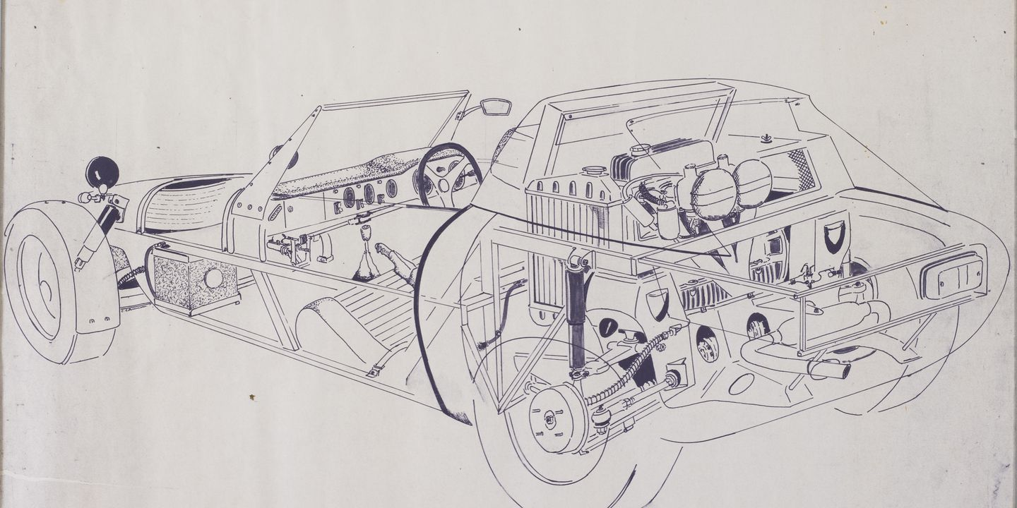Nota Fang automobile drawing by Chris Buckingham - MAAS Collection
