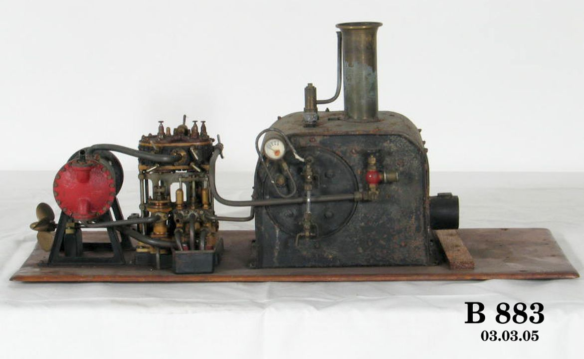 Marine steam engine and boiler model, steam yacht engine including ...